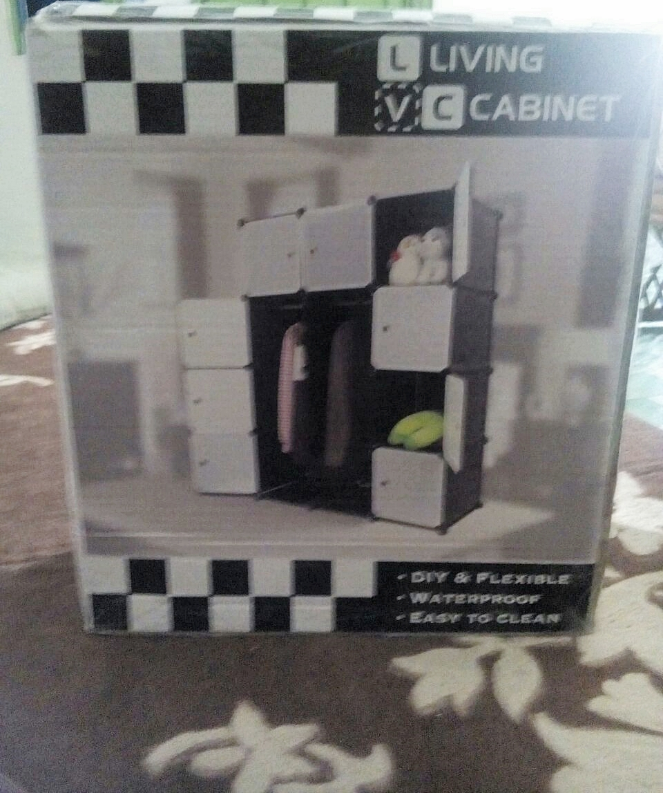 Blog Cik Miela: Beli LivingCabinet 12 Cubes Dark Veins DIY Cabinet ...