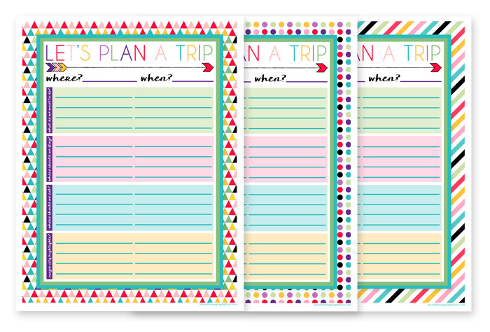 Three Trip Planning Printables