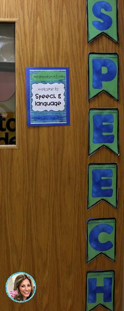speech therapy room setup and speech room decor