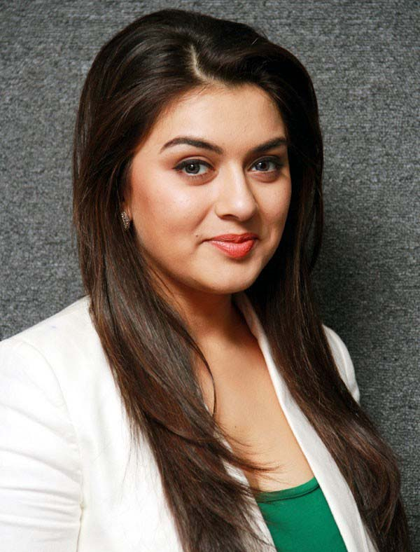 Hansika new images in white cote