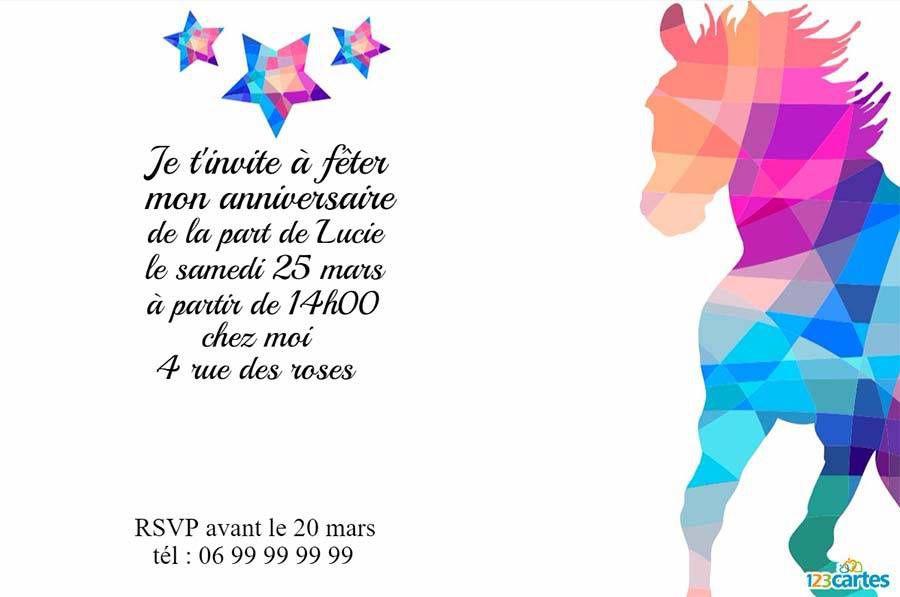 Invitation anniversaire cheval conception invitation anniversaire invitation anniversaire cheval stopboris Image collections