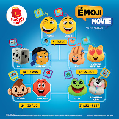 McDonald Malaysia McD Happy Meal Free Toy The Emoji Movie