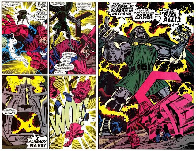 kekuatan doctor doom mengalahkan thanos galactus