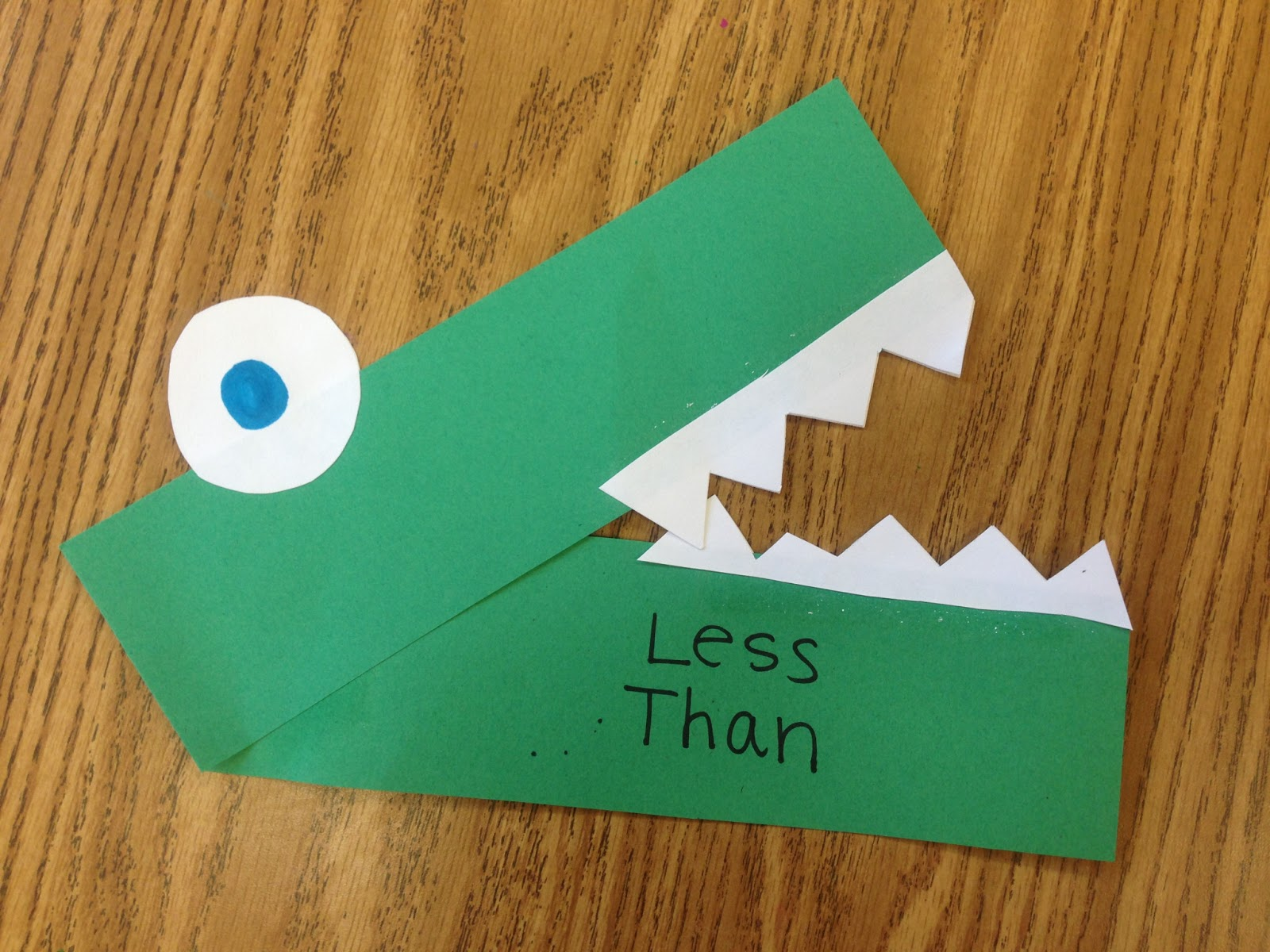 A Sunny Day In First Grade Greater Than Less Than Crocodile