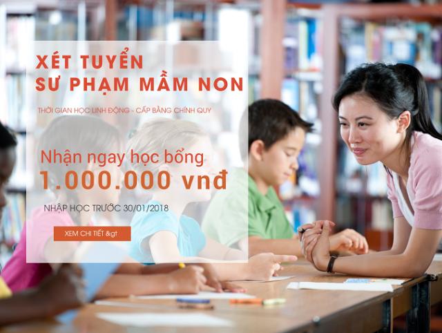 Xét tuyển sư phạm mầm non K18 học tại TP. Hồ Chí Minh