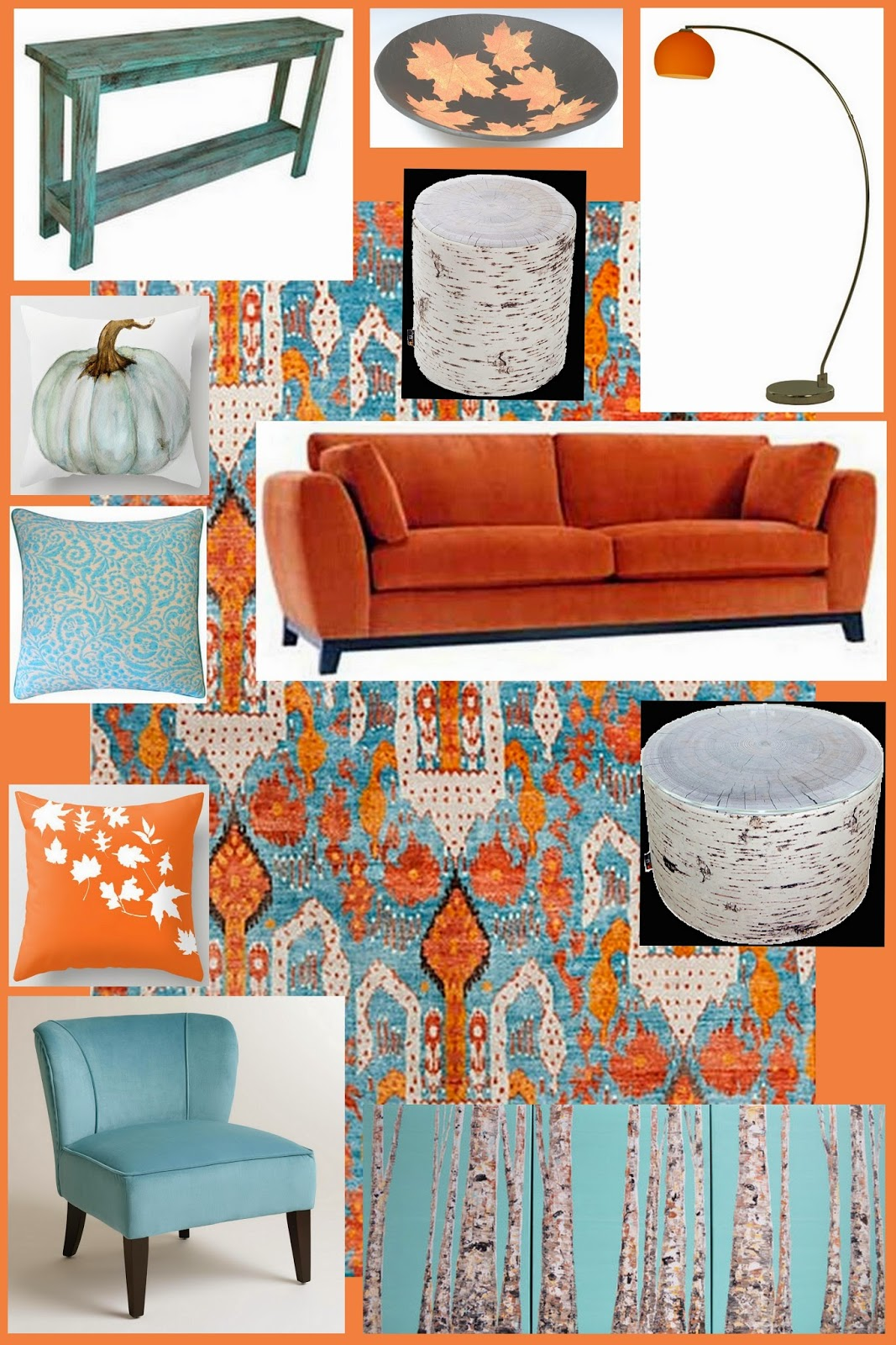 Clockwise From Top Left Aqua Distressed Sofa Table Houzz Large Leaf Bowl Steve Day Lounge Retro