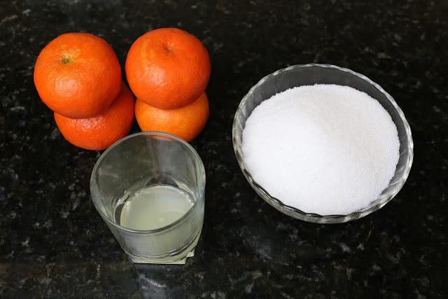 Ingredientes para mermelada de mandarinas