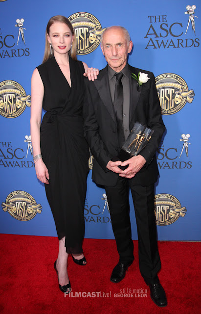 Philippe Rouselot and Rachel Nichols, ASC Awards ©George Leon/Filmcastive. Not to reproduce mechanically or digitally without written permission