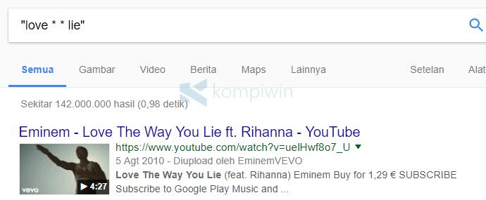 mencari sesuatu yang lupa kata kunci google