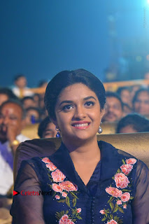 Actress Keerthi Suresh Stills in Blue Long Dress at Nenu Local Audio Launch  0003.JPG