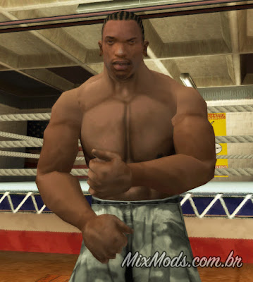 gta sa mod bodybuilder ripped CJ