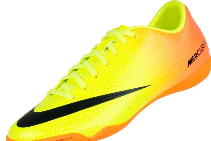 competitive price 0e515 92f6e Nike Mercurial Victory IV Indoor Soccer Shoes - Volt and Bright Citrus
