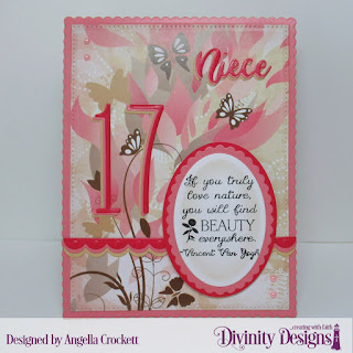 Divinity Designs Custom Dies: Long & Numbers, Family Names 3, Scalloped Rectangles, Pierced Rectangles, Scalloped Ovals, Ovals, Bitty Borders, Paper Collection: Beautiful Blooms, North Coast Creations Stamp Set: Find Beauty