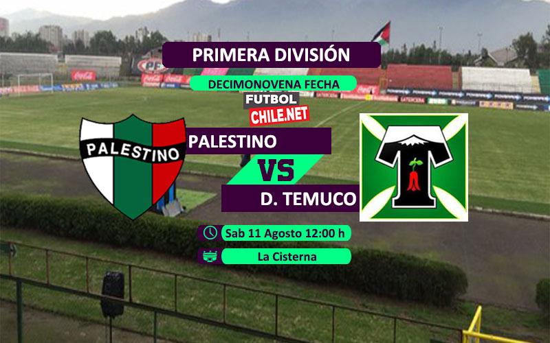 Mira Palestino vs Deportes Temuco en vivo y online por la Primera División de Chile