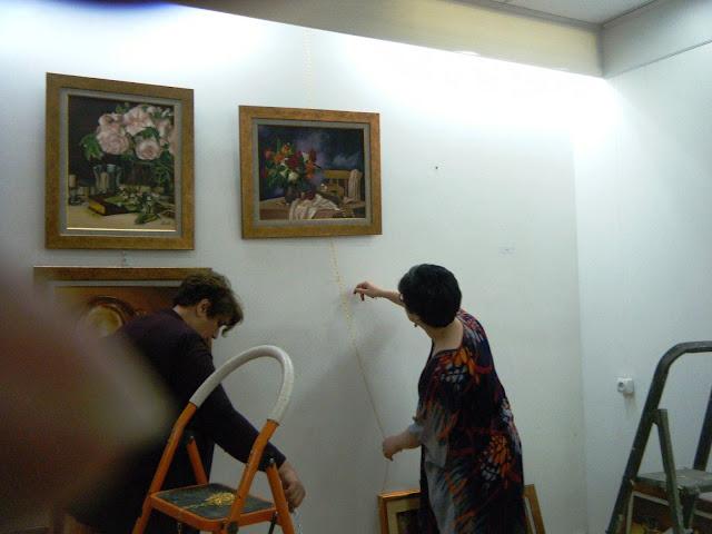 Préparatifs de l'expo de l'atelier artémisia 12