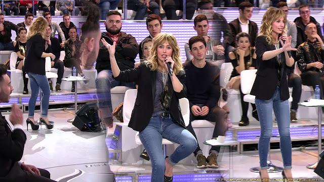 Emma García en vaqueros (03/01/17)
