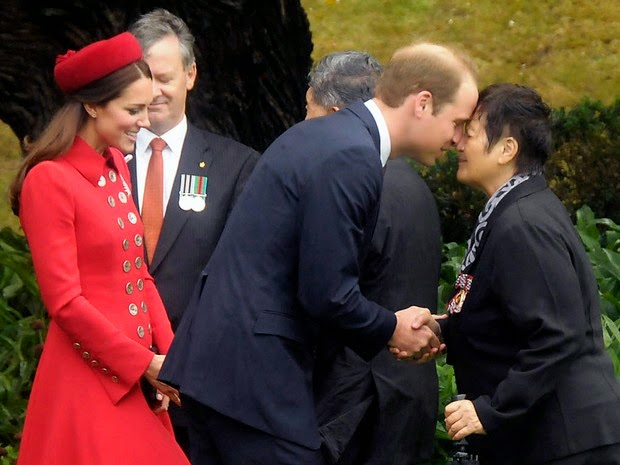Prince William and Kate Middleton in Wellington