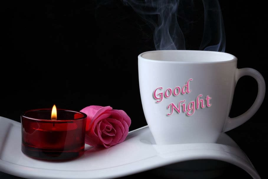 good-night-with-flowers-rose-coffee-wallpaper