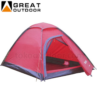 Tenda Great Outdoor kapasitas 2 orang
