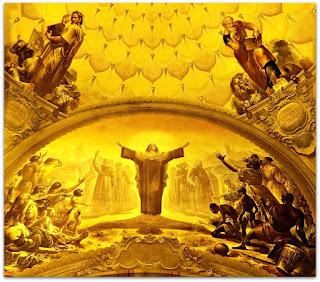 """'Teresinha, Padroeira das Missões' e """"Os Evangelistas: São Lucas e São Marcos"""", Aldo Locatelli (1955) - Igreja Santa Teresinha"""