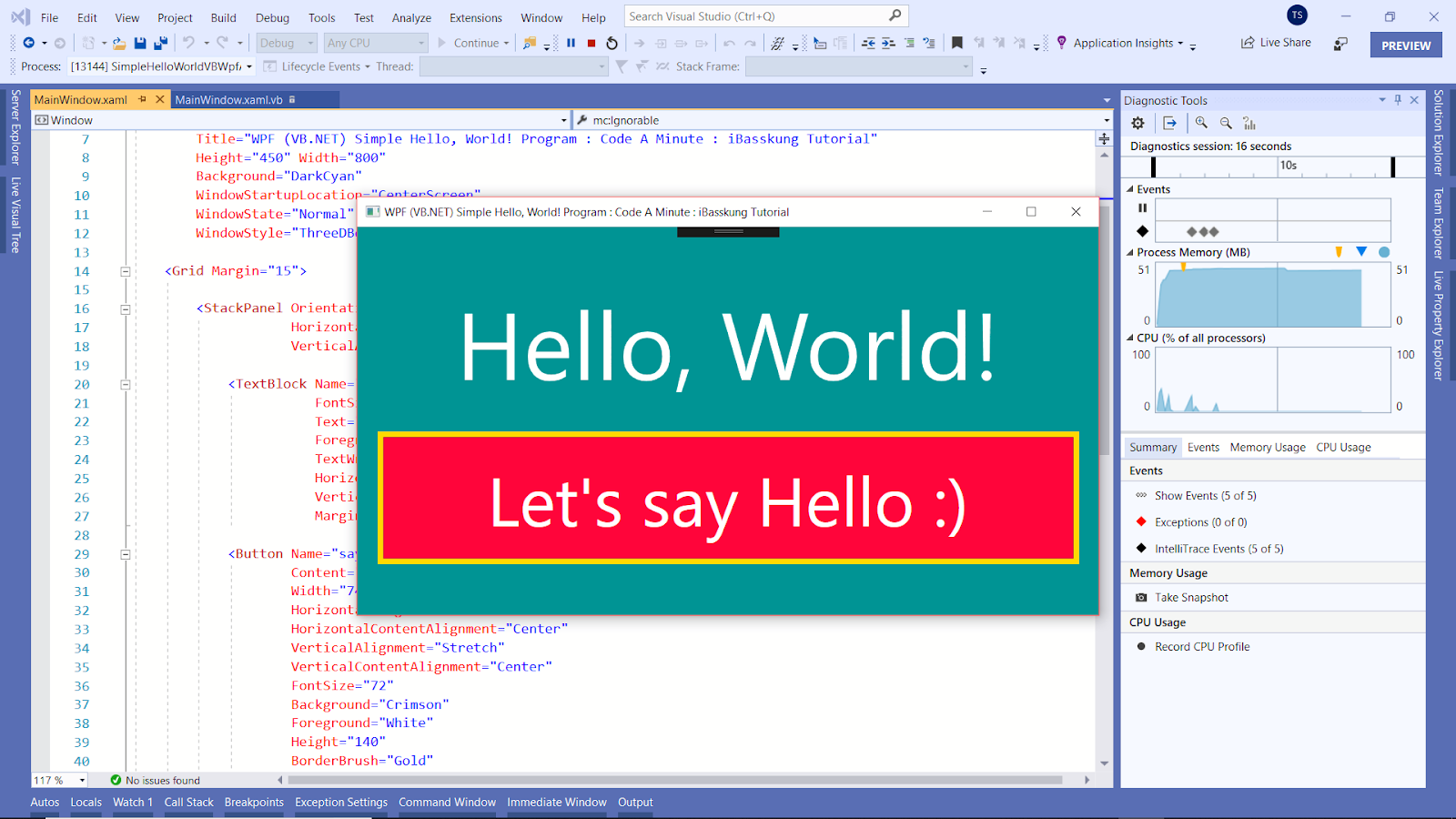 Visual Studio 2019 (WPF VB Net Source Code & XAML) How to Create a