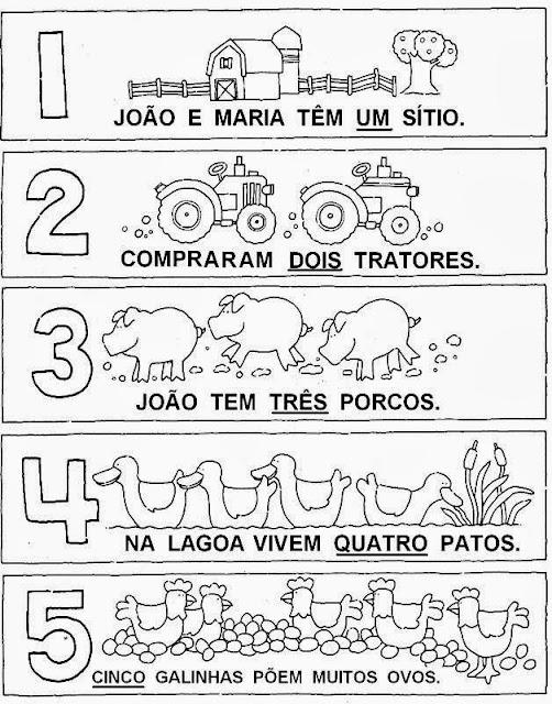 Atividades com Números - De 1 até 5