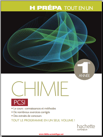 Livre : Chimie PCSI 1ère année, Tout-en-un - Magali Giacino PDF