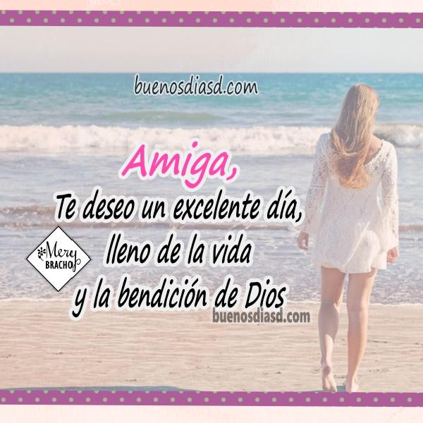 Bonitas frases cristianas para mi amiga en este buen día, mensajes cristianos con motivación a seguir adelante para amiga querida por Mery Bracho.