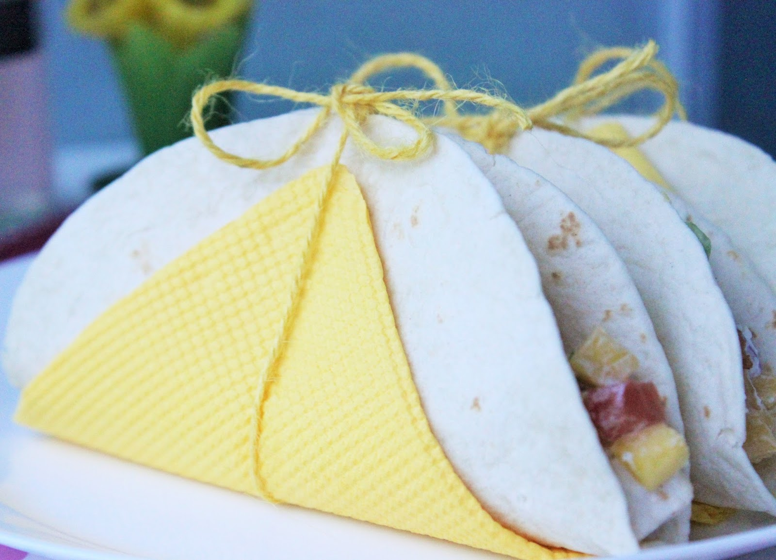 PERFECT SUMMER PATIO PARTY FOOD: MANGO PINEAPPLE CHICKEN SALAD WRAP RECIPE