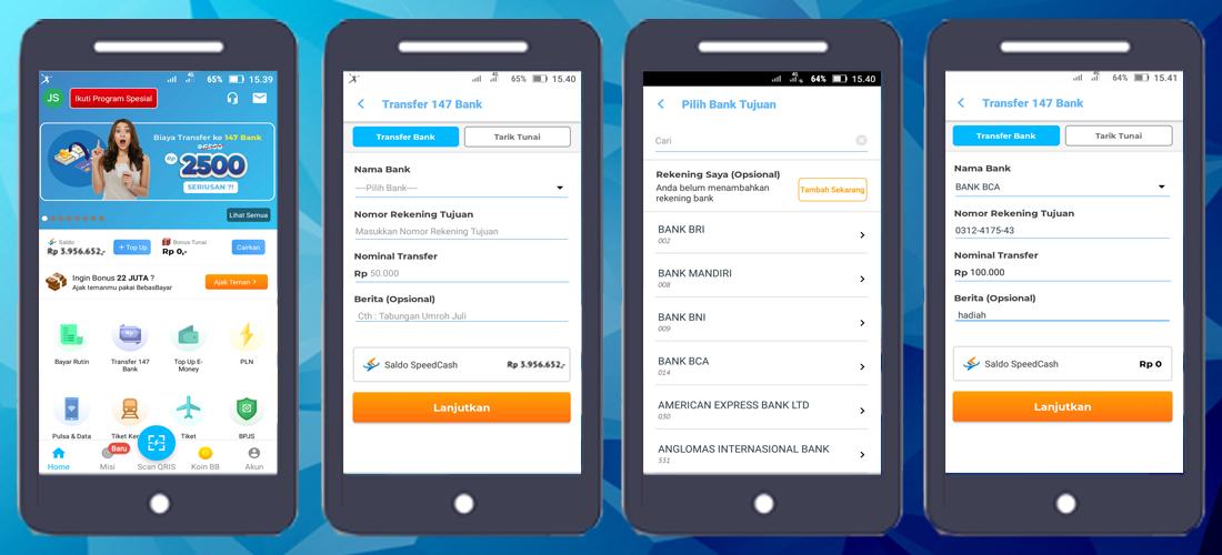 cara transfer uang lewat aplikasi bebas bayar