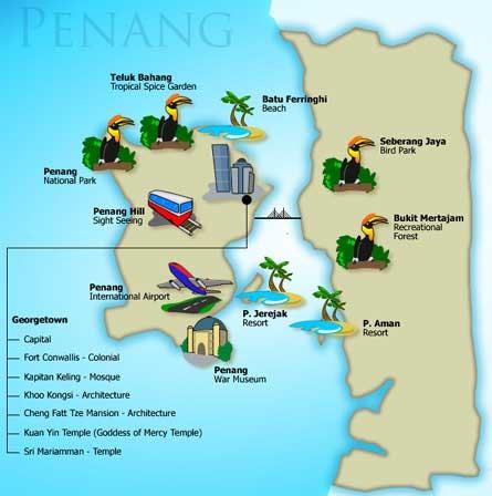Senarai Lokasi Menarik Di Pulau Pinang
