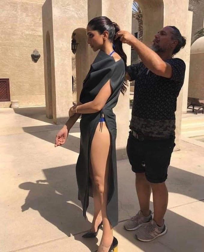 Deepikapadukone Getting Ready For The Photoshoot