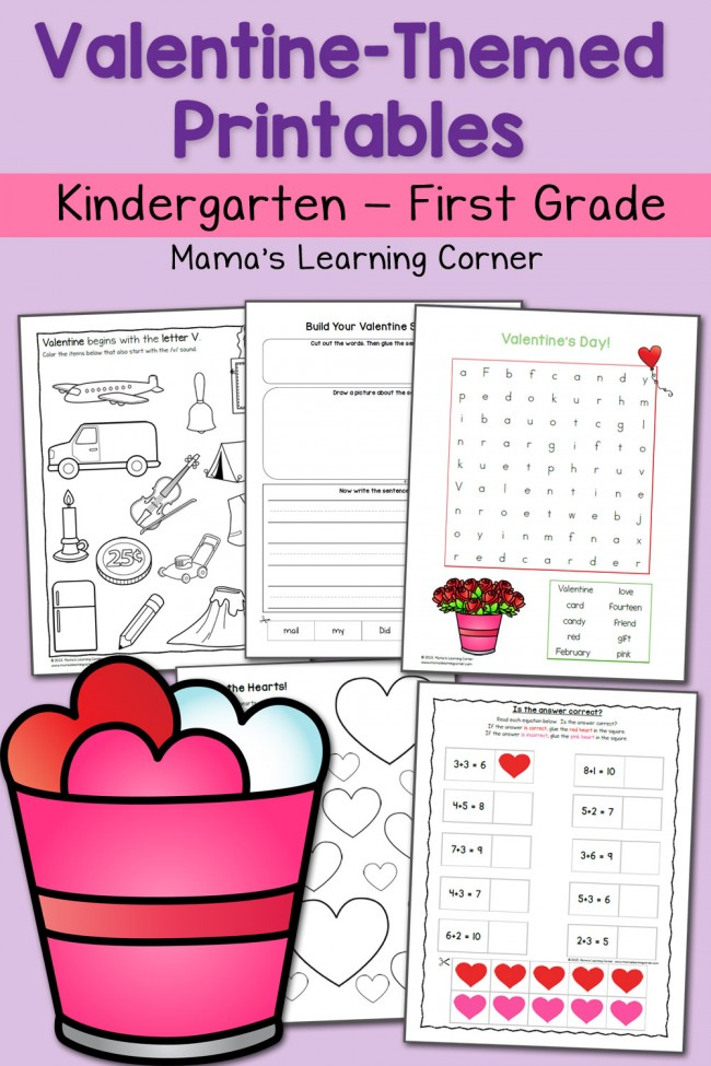 budget friendly homeschooling valentine worksheet packet. Black Bedroom Furniture Sets. Home Design Ideas
