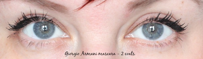 2 coats of giorgio armani eyes to kill mascara