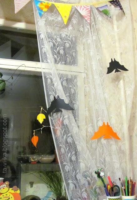 украшение комнаты на Хеллоуин Halloween