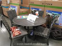 Woodard 5-piece Woven Dining Set Costco Weekender