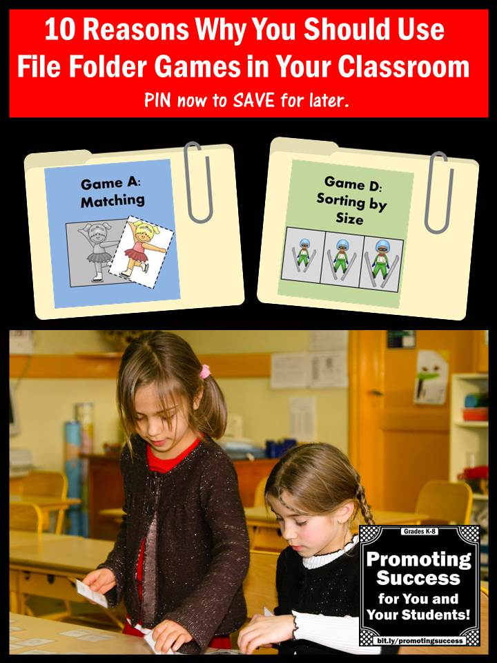 Why Use File Folder Games in the Classroom?