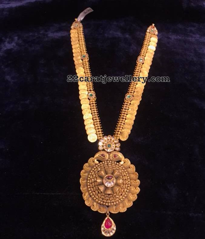 Kasu haram with Fancy Pendant by Premraj Jewellers