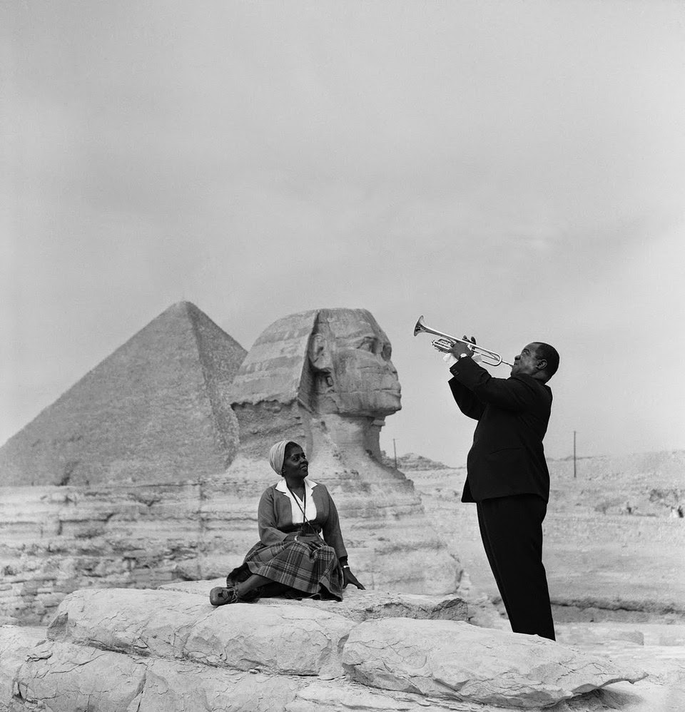 Ultimate Collection Of Rare Historical Photos. A Big Piece Of History (200 Pictures) - Louis Armstrong with wife