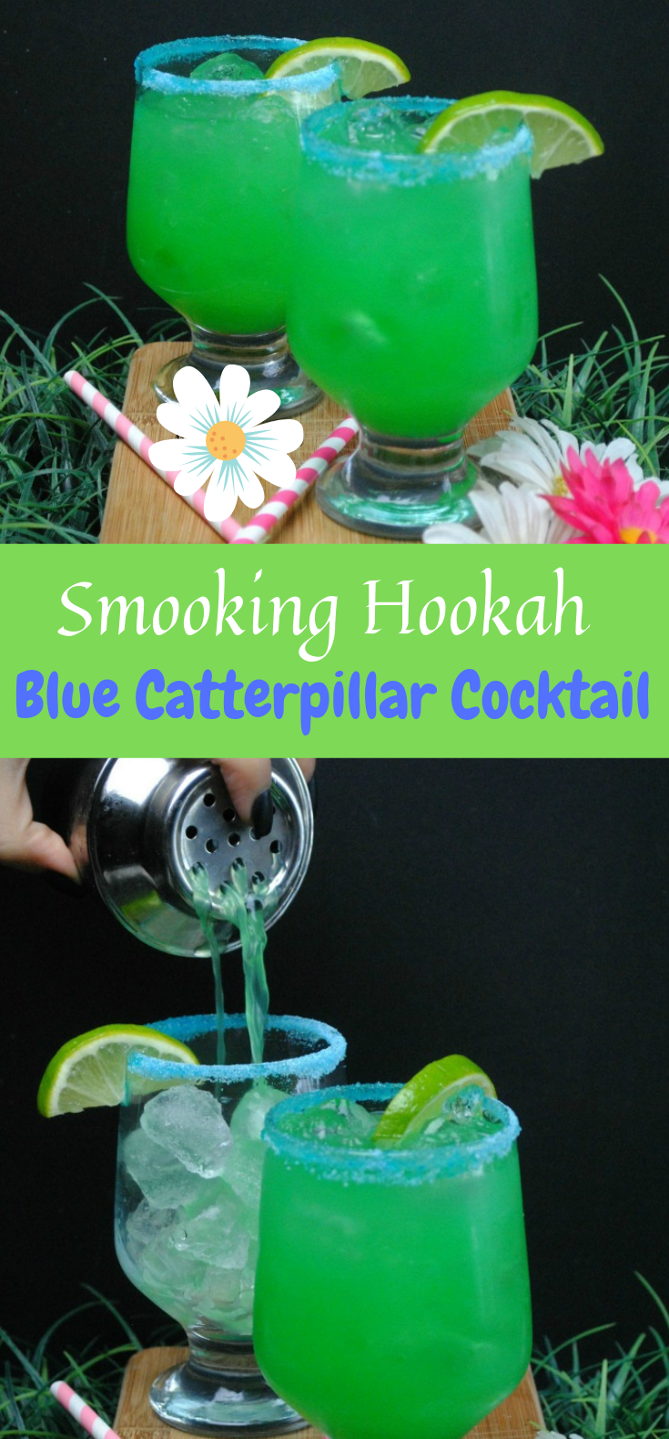 """SMOKING HOOKAH"" BLUE CATERPILLAR COCKTAIL (INSPIRED BY ALICE THROUGH THE LOOKING GLASS) #Cocktail #Drink"