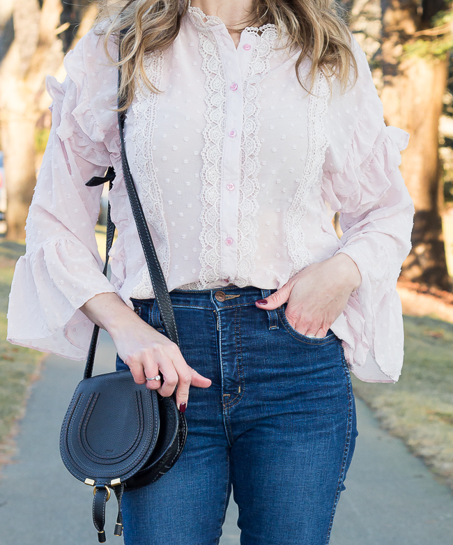 Ruffled Lace Blouse