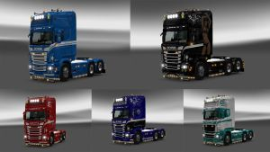 Skin pack by Catalin for Scania RJL