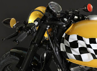 flaming flag sportster cafe racer by hd makinostra