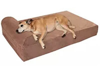 "Best Dog Bed for Large Dogs - Big Barker 7"" Pillow top Orthopedic Dog Bed (Headrest Edition)"