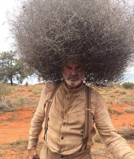Este homem começou a ficar careca e decidiu colocar isso em sua cabeça