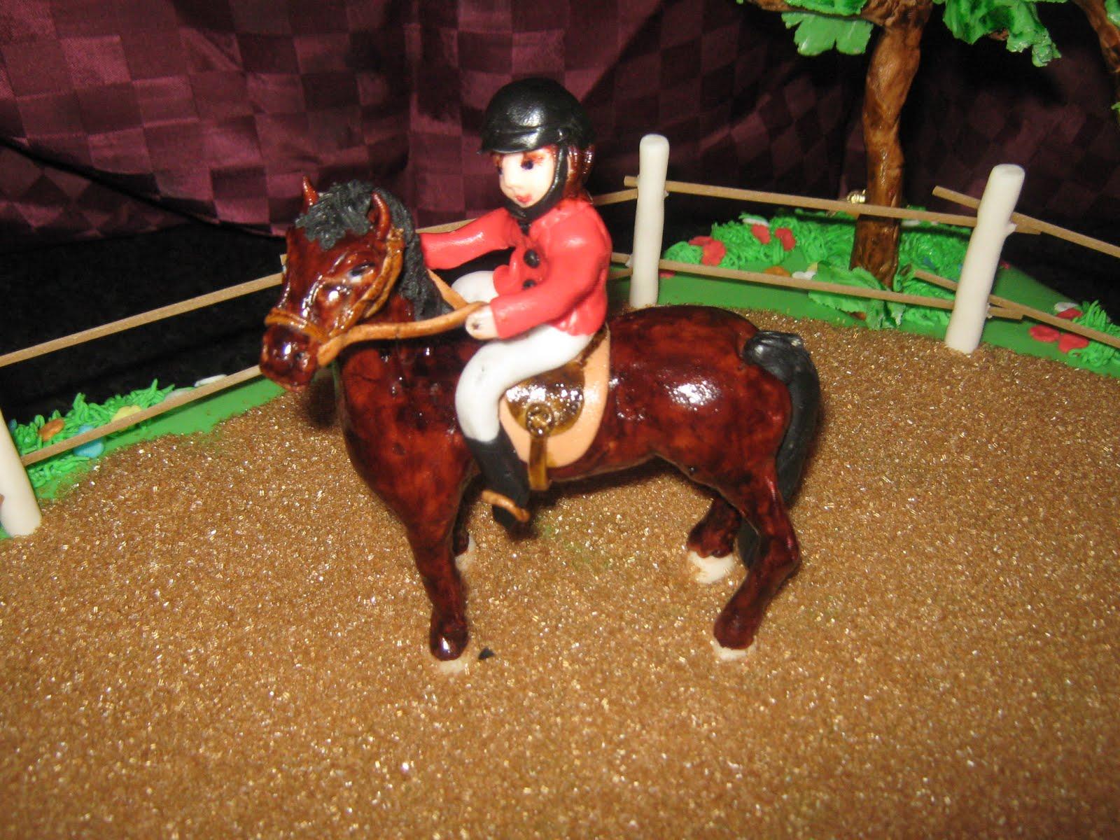 il paradiso delle torte: torta con cavallo e cavallerizza in pasta