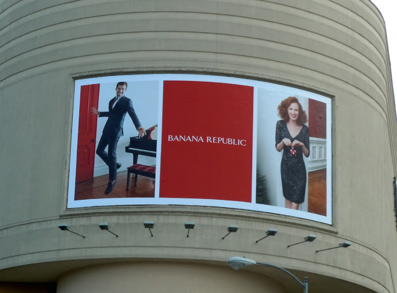 Banana Republic Xmas 2011 billboard