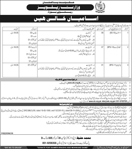 Pak Railways Govt Of Pakistan Vacant positions