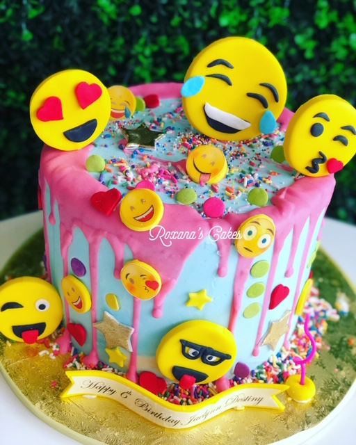 Birthday Cake Emoji Themed
