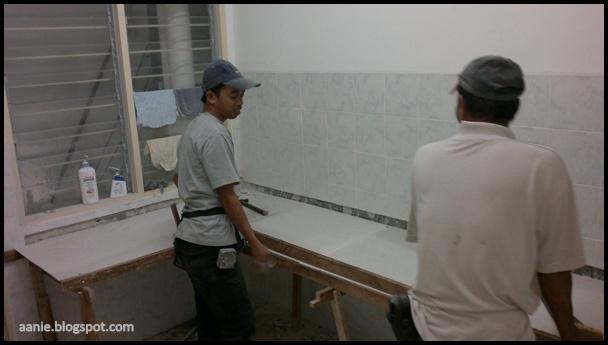 Proses Membuat Rangka Table Top Concrete